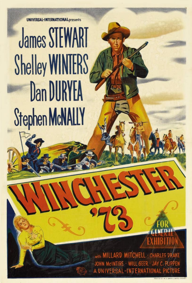 Jimmy stewart winchester 73 1950 did you see that one for Movie photos for sale