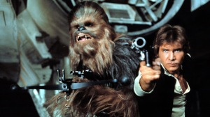STAR WARS, Chewbacca, Harrison Ford, 1977