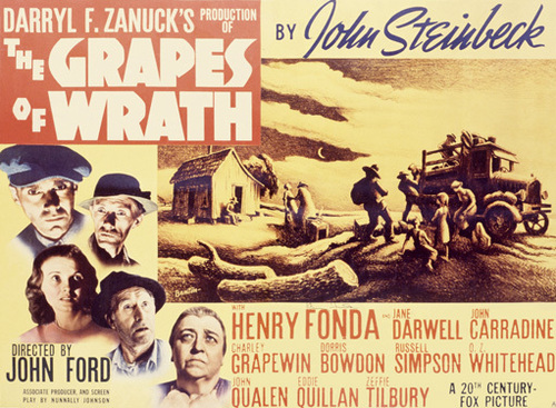 an analysis of the great depression in the movie the grapes of wrath by the director john ford It tells the story of one family's hardship during the depression and the dust bowl  of the 1930's  krystal giffen the grapes of wrath part 1: literary analysis 1   in the epic movie grapes of wrath, director john ford depicted a saga of one.