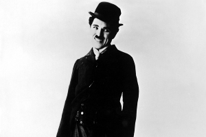 Charlie Chaplin, english film actor and producer.